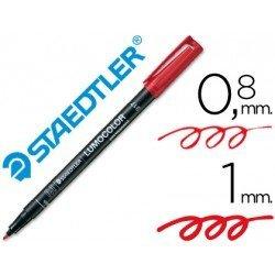 Rotulador Staedtler lumocolor rojo
