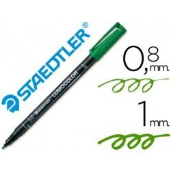 Rotulador lumocolor Staedtler verde