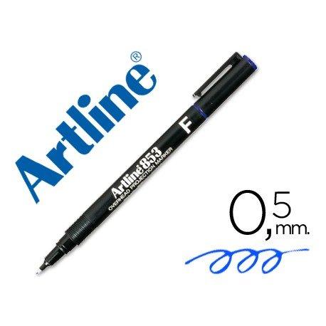 Rotulador retroproyección Artline EK-853 Permanente Color Azul Punta Redonda