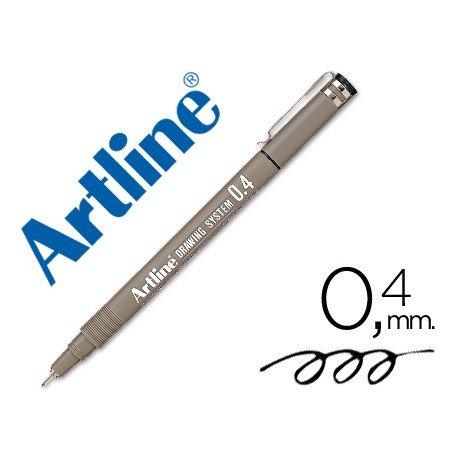 Rotulador Artline calibrado micrometrico negro de 0,4mm