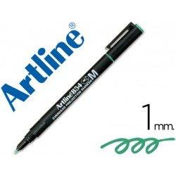 Rotulador retroproyección Artline EK-854 Permanente Color Verde Punta Redonda