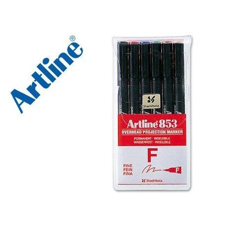 Rotulador retroproyección Artline EK-853 Permanente de Colores Surtidos Punta Redonda
