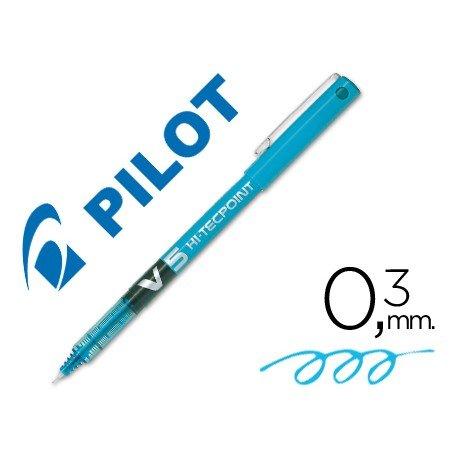 Rotulador Pilot V-5 Trazo 0,3 mm Azul claro