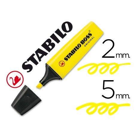 Rotulador Stabilo Boss 70 amarillo fluorescente