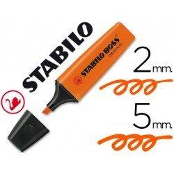 Rotulador Stabilo Boss 70 naranja fluorescente