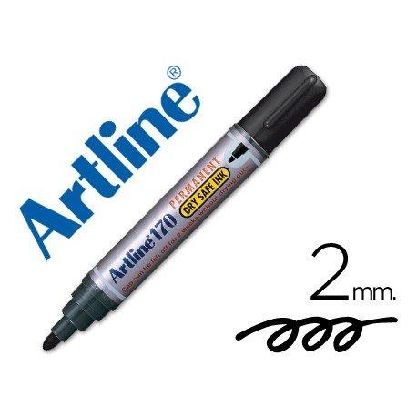 Rotulador Permanente Artline 170 color Negro Punta Redonda