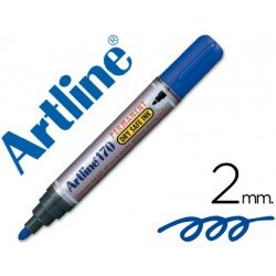 Rotulador Permanente Artline 170 color Azul Punta Redonda