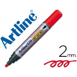Rotulador Permanente Artline 170 color Rojo Punta Redonda