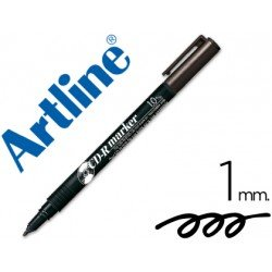 Rotulador Marcador Permanente Artline EK-884 Color Negro para CD y DVD
