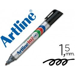 Rotulador Permanente Artline 107 color Negro Punta Redonda