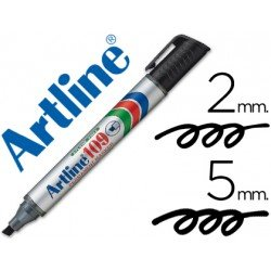 Rotulador Permanente Artline 109 color Negro Punta Biselada