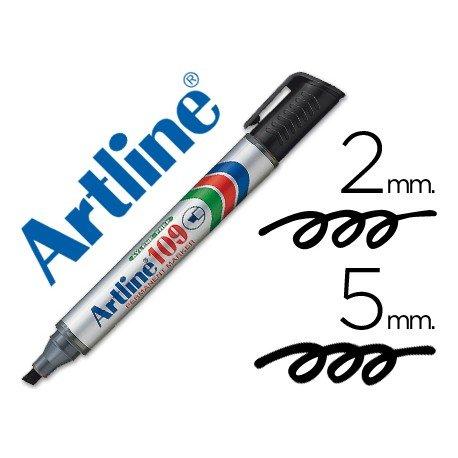 Rotulador Permanente Artline 109 color Negro Punta Biselada