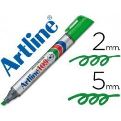 Rotulador Permanente Artline 109 color Verde Punta Biselada
