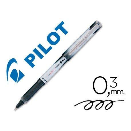 Boligrafo roller Pilot V-Ball Grip 0,3 mm Negro