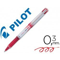 Boligrafo roller Pilot V-Ball Grip 0,3mm Rojo