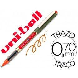 Rotulador-bolígrafo roller Uni-Ball naranja UB-157 0,5 mm.