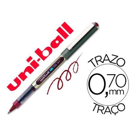 Rotulador-bolígrafo roller Uni-Ball vino UB-157 0,5 mm.
