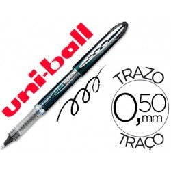 Rotulador-bolígrafo roller Uni-Ball negro UB-205 Vision 0,4 mm.