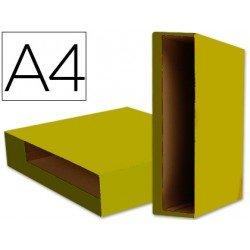 Caja archivador de palanca marca Liderpapel Din A4 Color System Amarillo