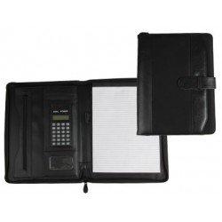 Portadocumentos Carpeta Csp Negro Din A4 con calculadora