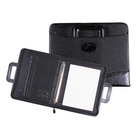 Portadocumentos Cartera Csp Asa y anillas 360x285x50 mm Negro