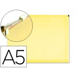 Carpeta sobre cremallera Liderpapel Din A5 amarillo