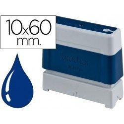 Sello Automatico marca Brother 10 x 60 azul