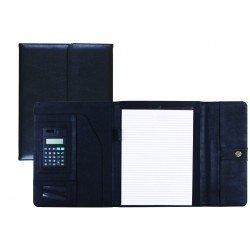 Portadocumentos Carpeta Csp Negro con calculadora Cierre Imán