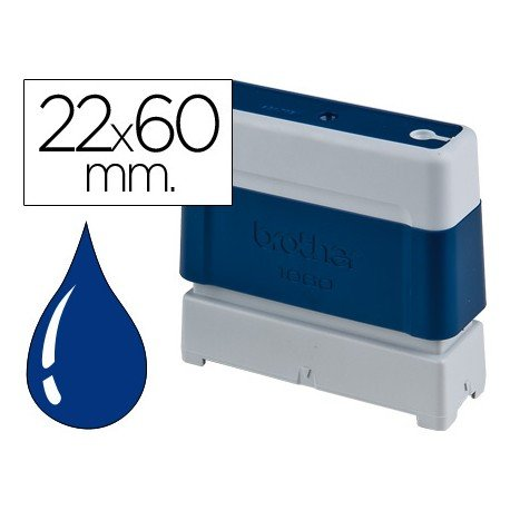 Sello Automatico marca Brother 22 x 60 azul