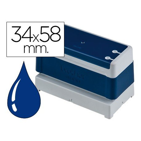 Sello Automatico marca Brother 34 x 58 azul