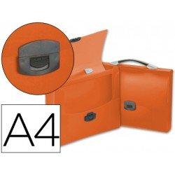 Cartera portadocumentos Beautone con Broche naranja