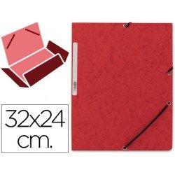 Carpetas de gomas carton prespan Q-Connect Din A4 rojo