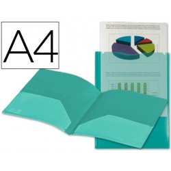 Carpeta dossier con doble bolsa canguro Beautone Din A4 verde