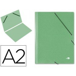 Carpetas de gomas carton Liderpapel Din A2 verde