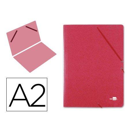 Carpetas de gomas carton Liderpapel Din A2 rojo