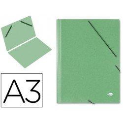 Carpetas de gomas carton Liderpapel Din A3 verde