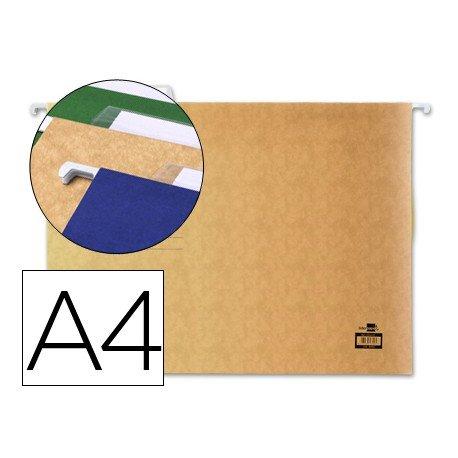 Carpetas colgantes marca Liderpapel A4 visor superior