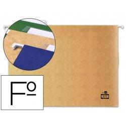 Carpetas colgantes marca Liderpapel folio visor superior
