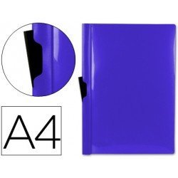 Carpeta dossier con pinza lateral Beautone Din A4 60 hojas color azul