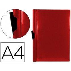 Carpeta dossier con pinza lateral Beautone Din A4 60 hojas color rojo