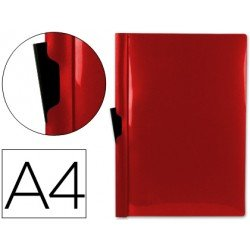 Carpeta dossier con pinza lateral Liderpapel 60 hojas Din A4 color rojo