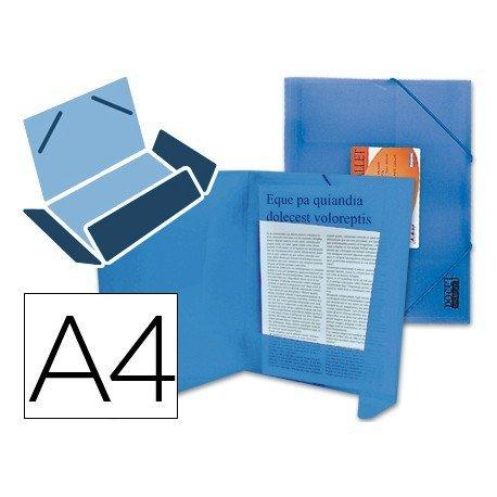 Carpeta lomo flexible con solapas Liderpapel Din A4 color azul