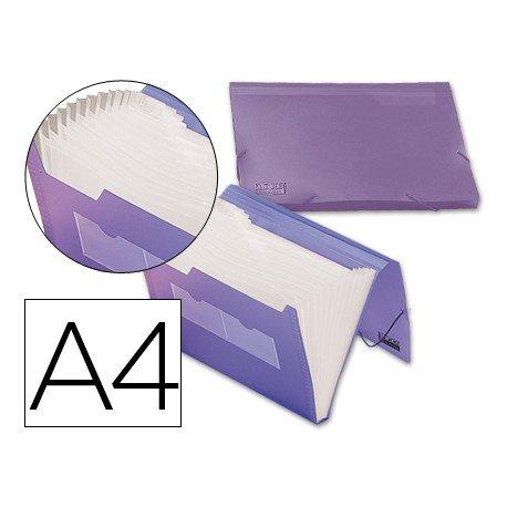 Carpeta clasificadora gomas polipropileno Beautone Din A4 violeta