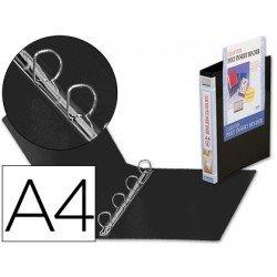 Carpeta canguro 4 anillas Beautone polipropileno Din A4 negro