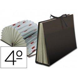 Carpeta clasificadora cuarto carton Liderpapel negro