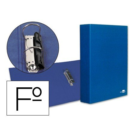 Carpeta 2anillas 40mm Folio marca Liderpapel Azul
