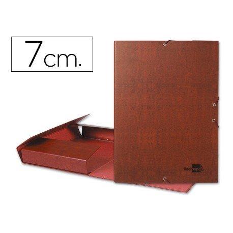 Carpeta de proyectos Liderpapel de carton con gomas cuero