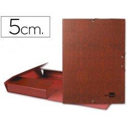 Carpeta de proyectos Liderpapel de carton gomas cuero 5 cm