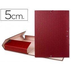 Carpeta de proyectos Liderpapel de carton con gomas Paper Coat lomo 50 mm rojo