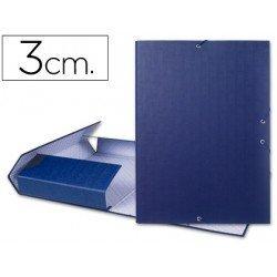 Carpeta de proyectos Liderpapel de carton con gomas Paper Coat lomo 30 mm azul
